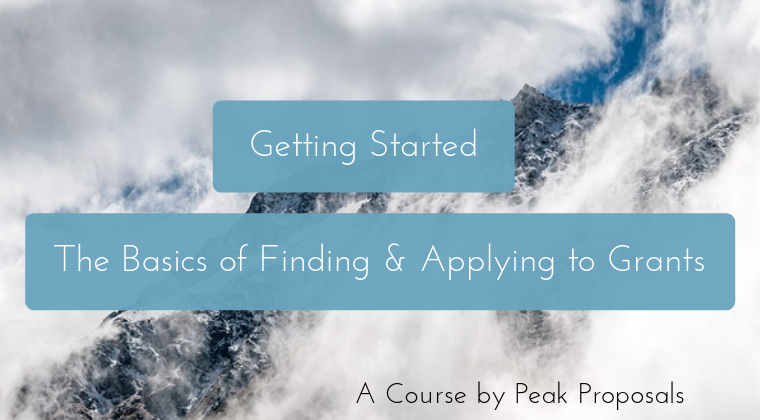 Getting Started: The Basics of Finding & Applying to Grants