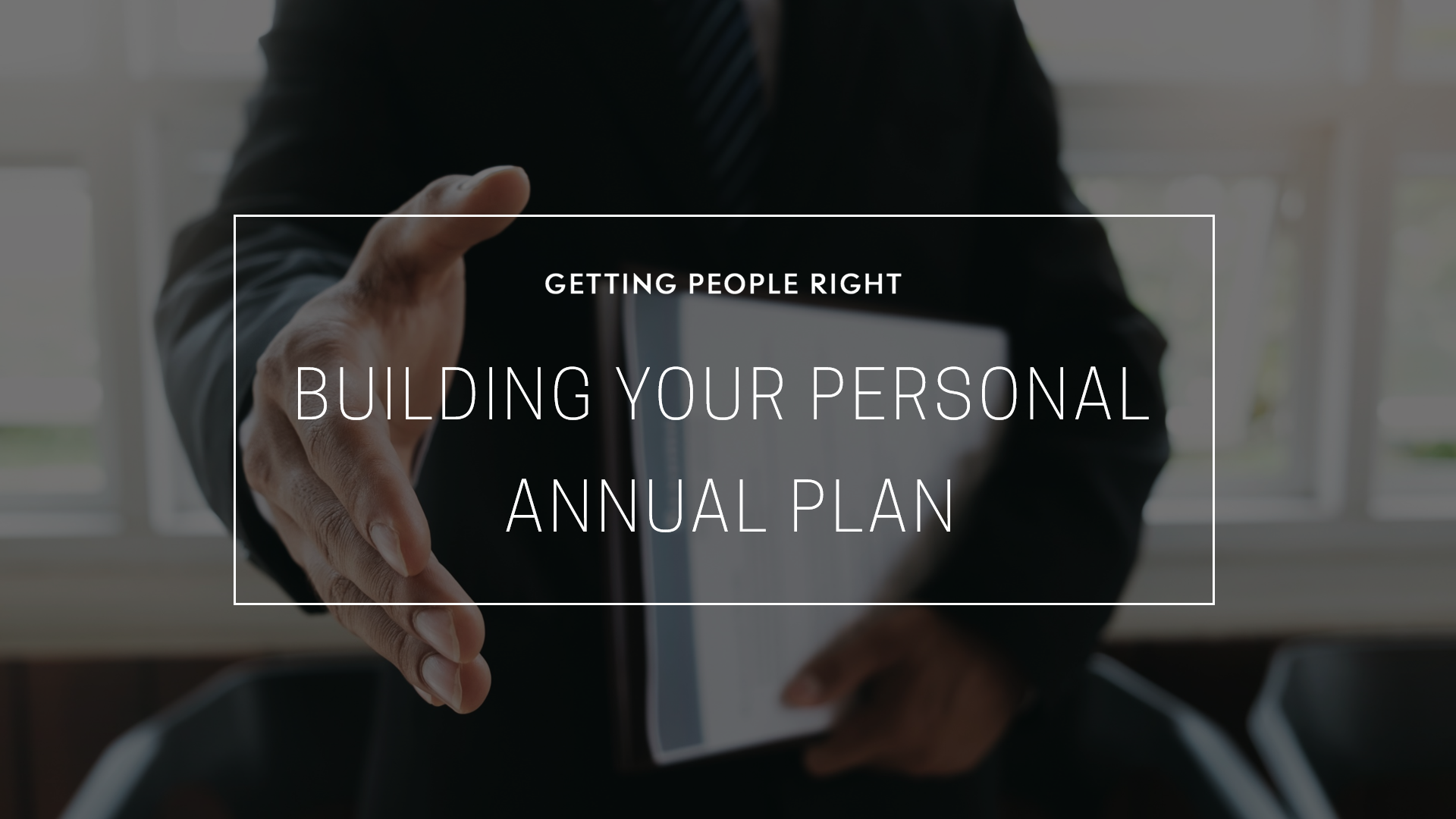 107 - Personal Annual Plan