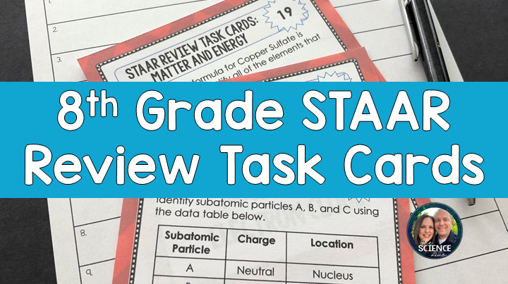 Science STAAR Review Task Cards