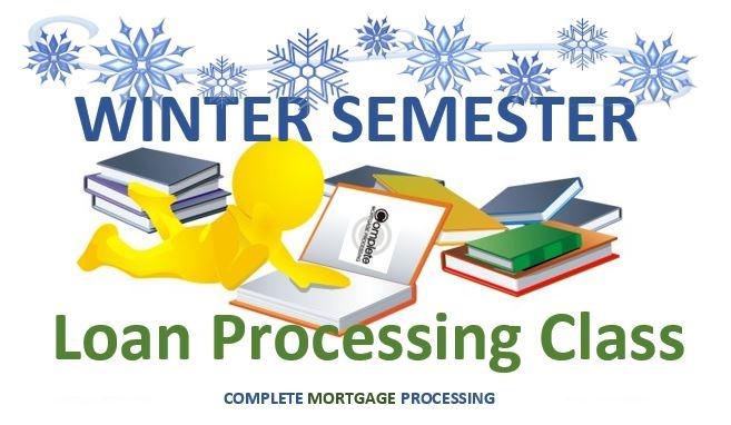 Mortgage Loan Processing School