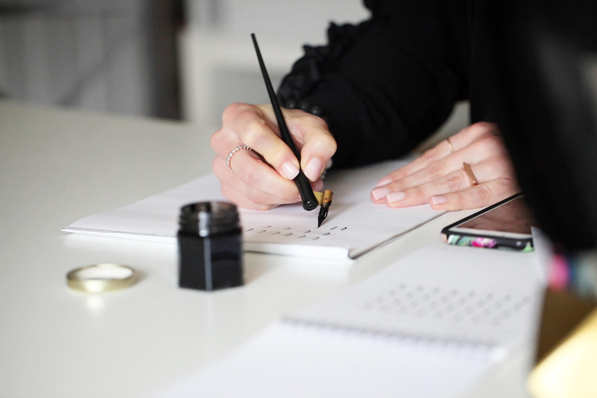 Dip Pen Modern Calligraphy