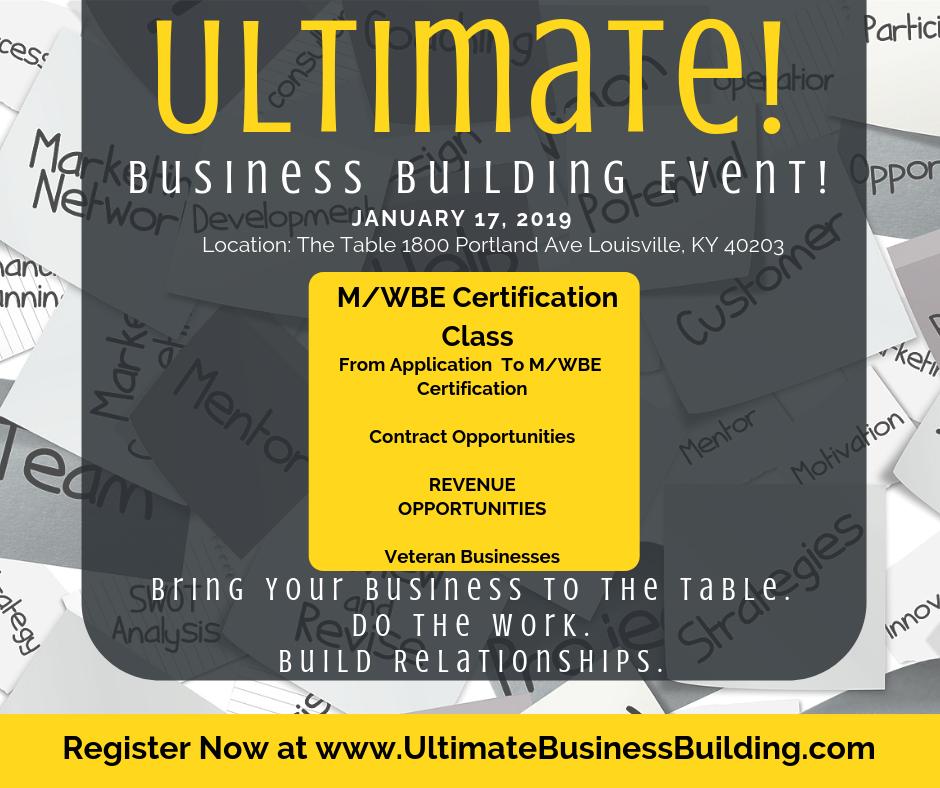 Thursday Mwbe Certification Unlimited Business Building Live Event