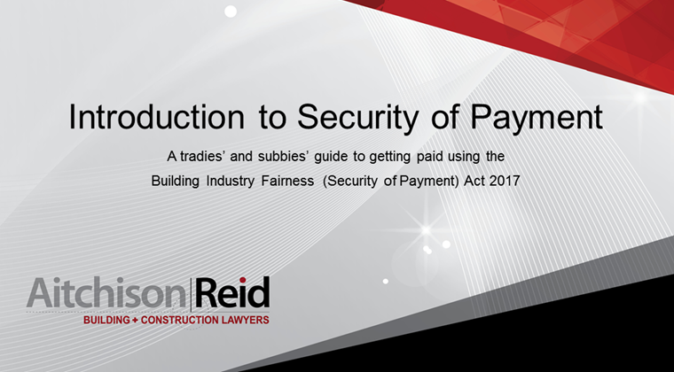 Guide to Getting Paid Using BIF Security of Payment