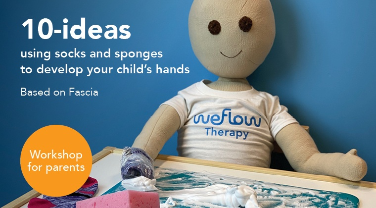 10-ideas with socks and sponges to develop your child's hands