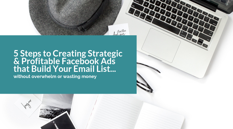 5 Steps to Creating Strategic & Profitable Facebook Ads that Build Your Email List... without overwhelm or wasting money
