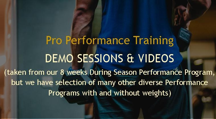 1 DEMO WEEK - Pro Performance Training - FREE