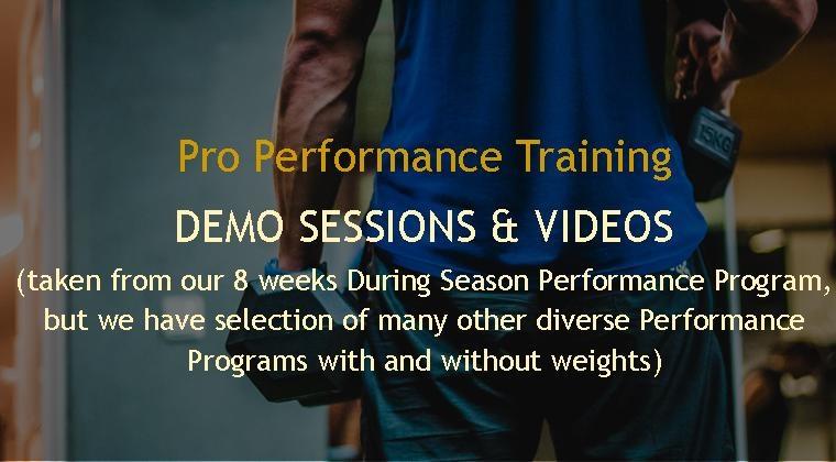 1 DEMO WEEK - Pro Performance Training - FREE