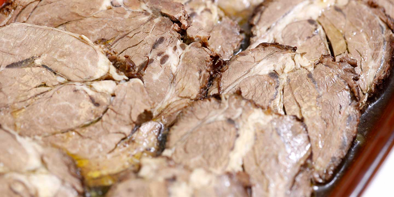 La cottura del brasato