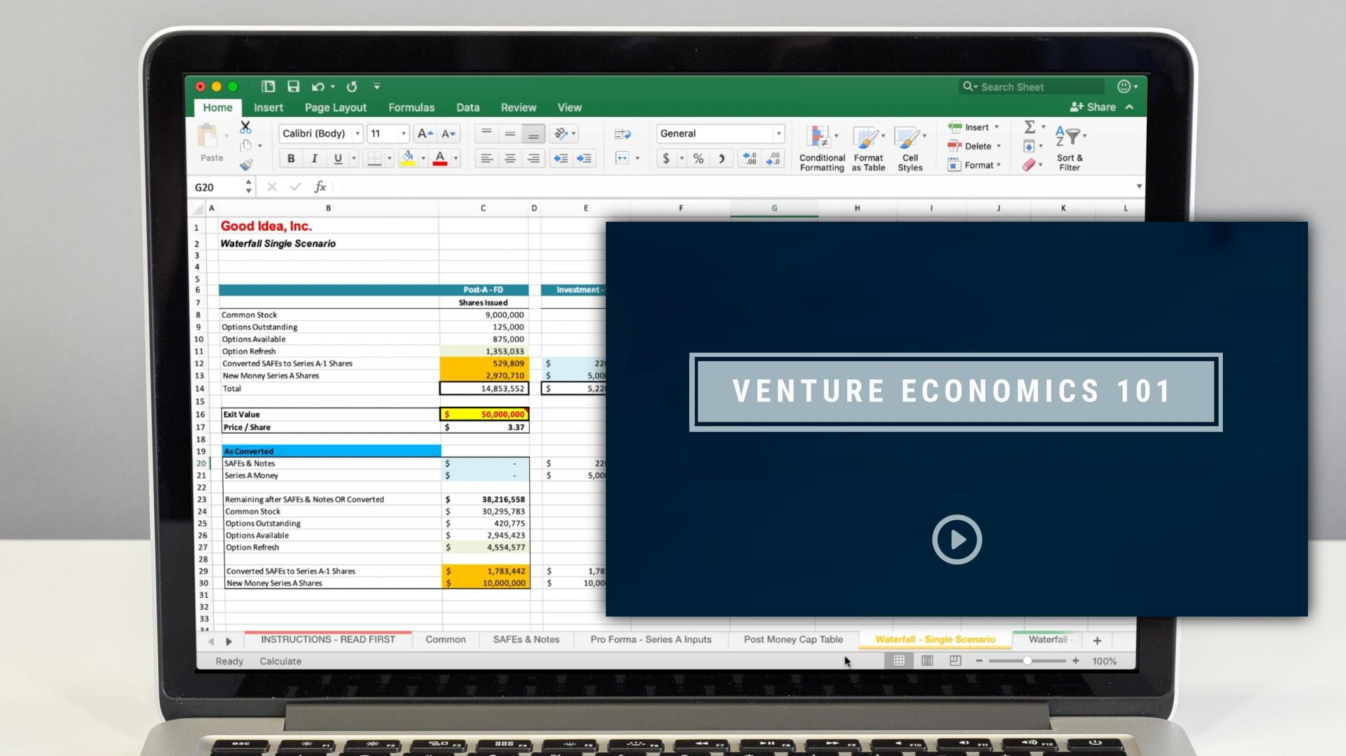 Venture Economics 101 + Startup Cap Tables