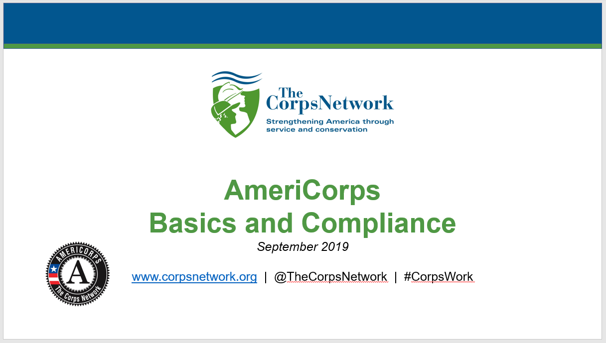 AmeriCorps Basics and Compliance