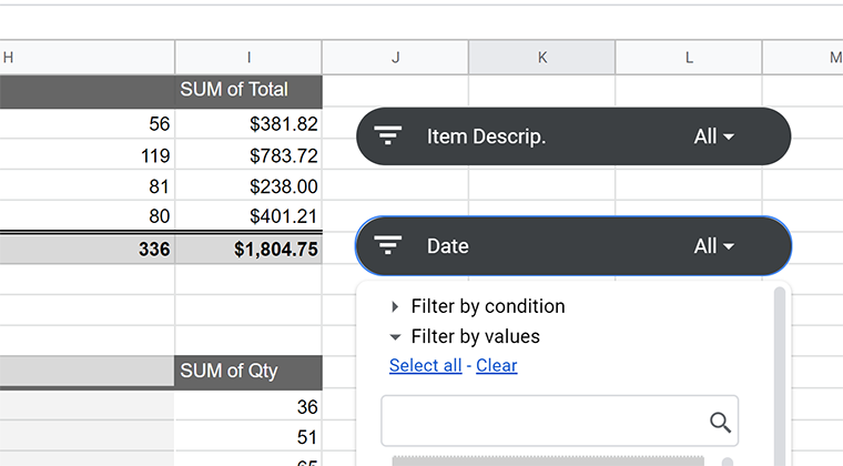 Google Sheets - Group Data Inside a Pivot Table