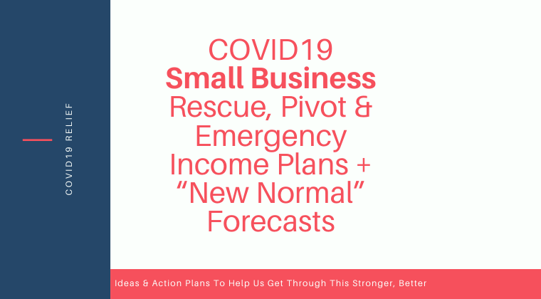 "S01. COVID19 Small Business Rescue, Pivot & Emergency Income Plans + ""New Normal"" Forecasts"
