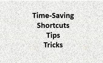 Shotcuts, tips, tricks