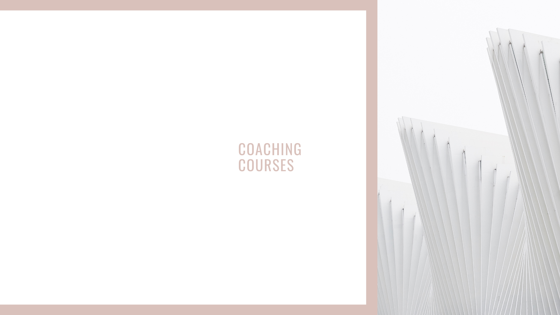 Coaching Courses