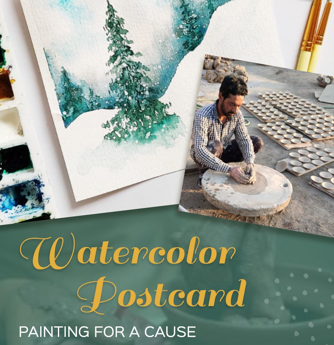 Watercolor Postcard : Painting for a Cause