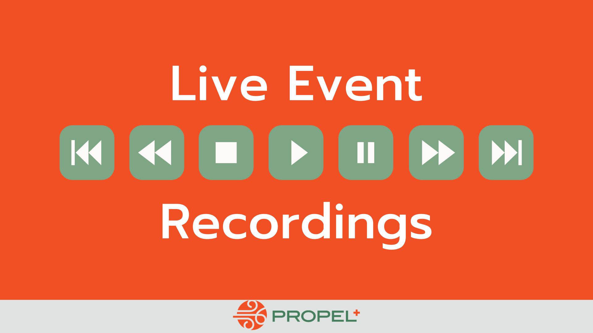 Live Event Recordings