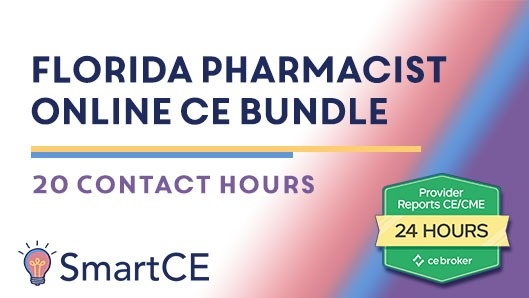 Florida Pharmacist Online CE Bundle - 20 Contact Hours/ 20-664585