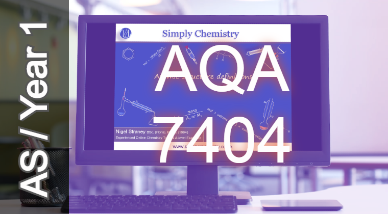 AQA AS Topic 3.1.2 Amount of substance video course (7404) NoQ