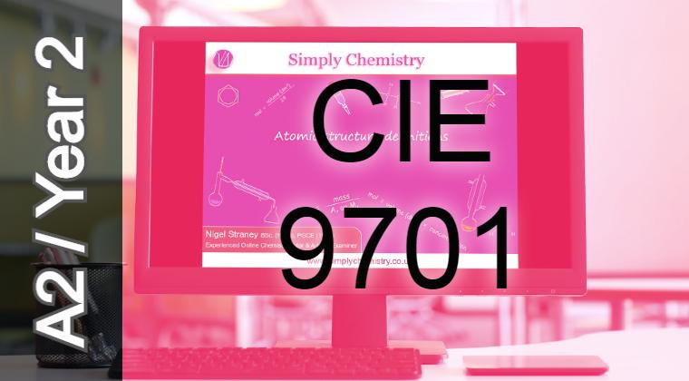 CIE 9701 A2 Topic 8 Reaction Kinetics