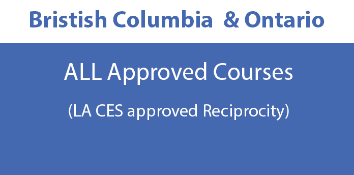 British Columbia and Ontario Approved Courses - All Courses
